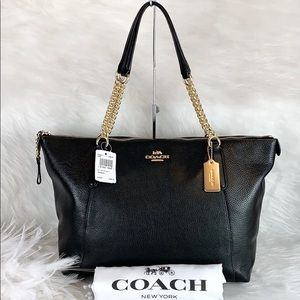 🖤New COACH 🖤 F22211 Black Pebbled Leather Ava